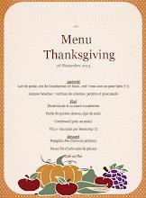 Photo: Et voici le menu qui nous attendait...