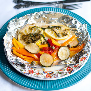 Grilled Lemon Tilapia and Summer Vegetables in a Foil Packet