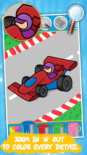 cars coloring pages : cartoon drawing for kids screenshot 1