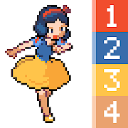 Princess Color By Number: Pixel Art Princess