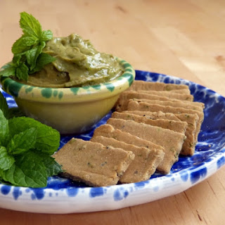 Oregano Crackers with Avocado and Mint Dip - Paleo, AIP, Gluten Free