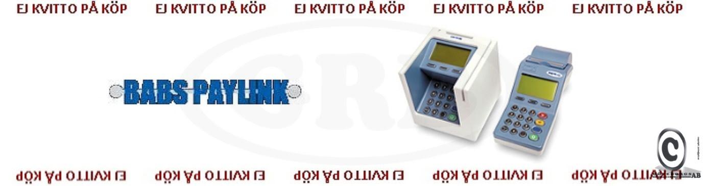 Babs Paylink kontokortsrullar