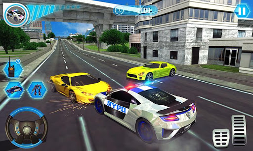 US Police Car Real Robot Transform: Robot Car Game 9 screenshots 3