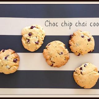 Choc Chip Chai Cookies