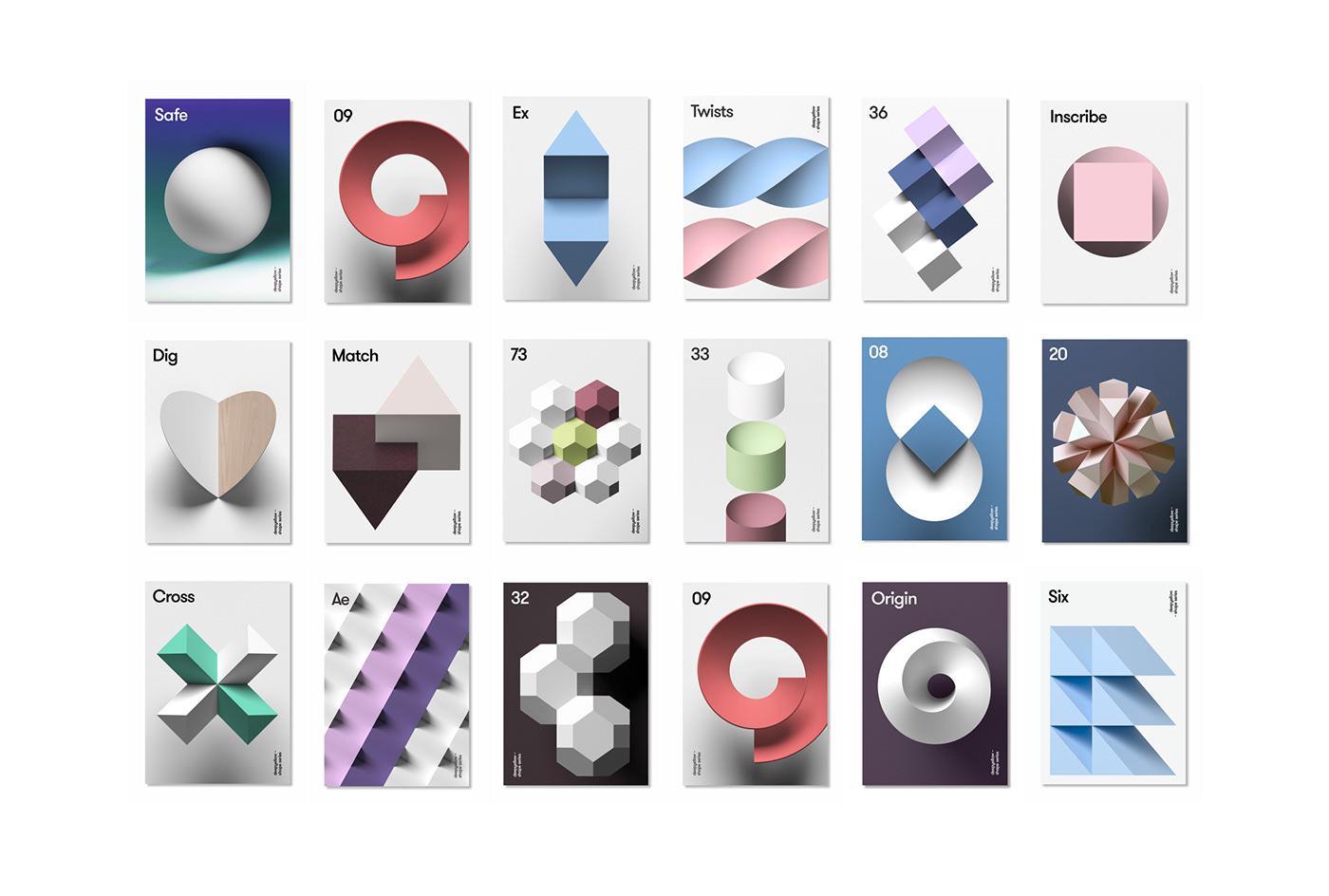 3D 3dart brand deepshape deepyellow design identity ILLUSTRATION  logo poster