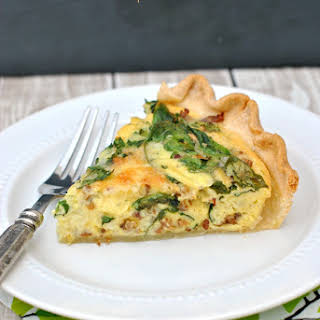 Spinach and Sausage Quiche.