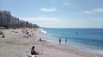 La playa de El Zapillo, este 25 de mayo.