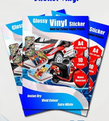 jenis stiker vinyl