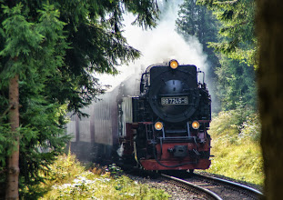 Photo: Harzquerbahn am Dreiherrenstein