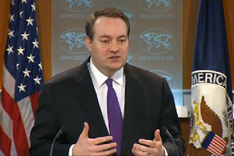 Photo: A video grab image of Acting Deputy Spokesperson of the US Department of State Patrick Ventrell speaks during the Daily Press Briefing in Washington, DC, on 1 March 2013.