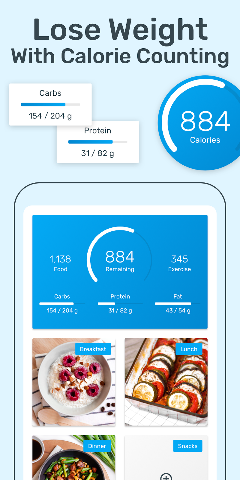 YAZIO Calorie Counter, Nutrition Diary & Diet Plan Screenshot 0
