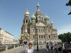 """Photo: On my free afternoon I went into the Church on Spilt Blood, built on the site of where Tsar Alexander II was assassinated and dedicated to his memory.  It reminded me of Disney's """"It's a Small World""""."""