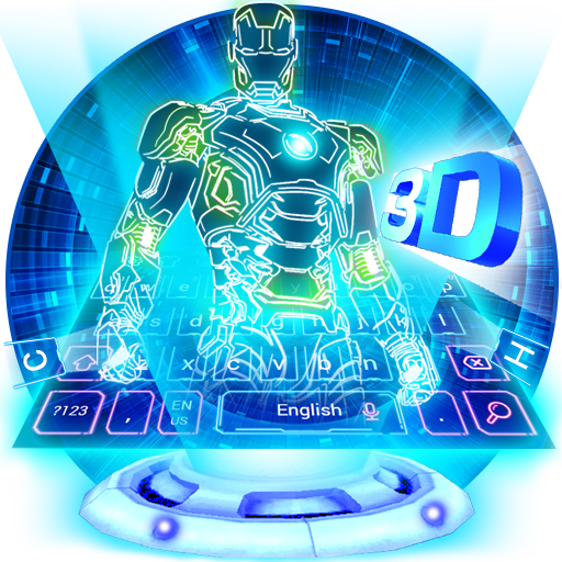 Neon 3D Robot Keyboard file APK for Gaming PC/PS3/PS4 Smart TV