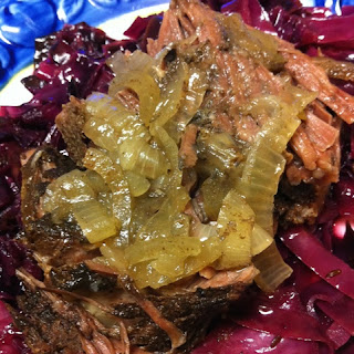 Slow Cooker Cinnamon Chuck Roast and Onions