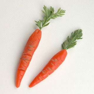 Marzipan Carrots.