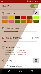 iBlue Pro Bluelight Filter Screenshot