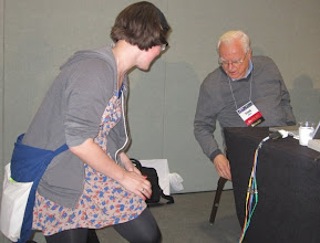 Photo: My pal Jaime showing Frank Drake her tattoo after the session, no joke... guess what her tattoo is??