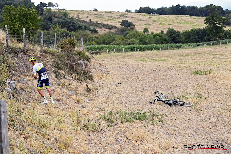 """Quinten Hermans ontsnapte aan erger bij crash die hem bergtrui afnam: """"Ik mag van geluk spreken"""""""
