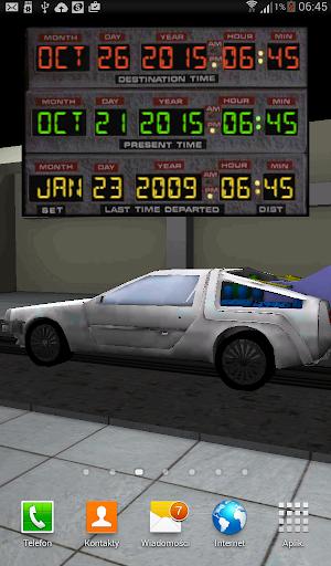 Live Wallpaper DeLorean
