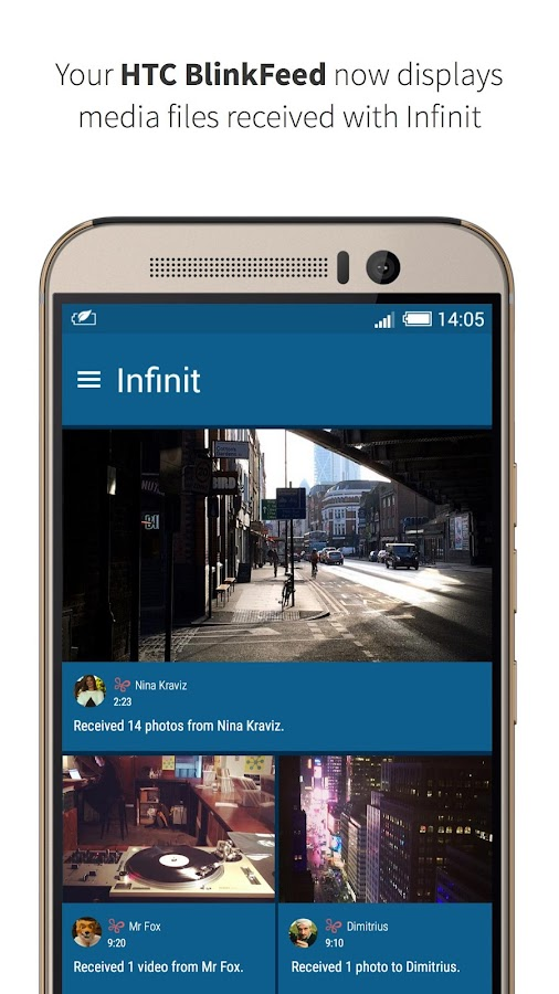File transfer by Infinit- screenshot