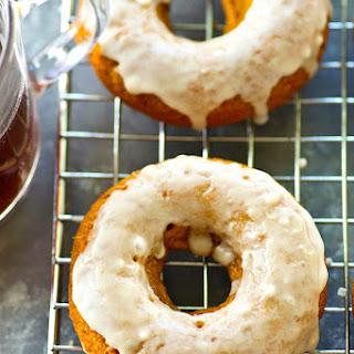 Pumpkin Spice Latte Donuts with Espresso Glaze