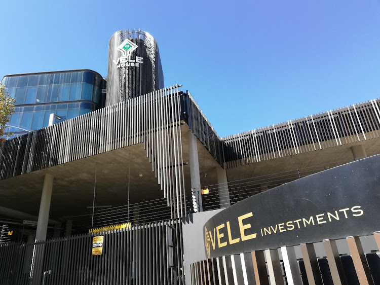 The offices of Vele Investments on Grayston Drive, in Sandton, Johannesburg.