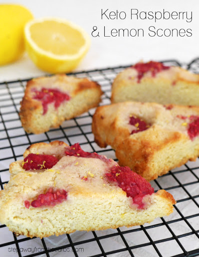 Keto Raspberry and Lemon Scones