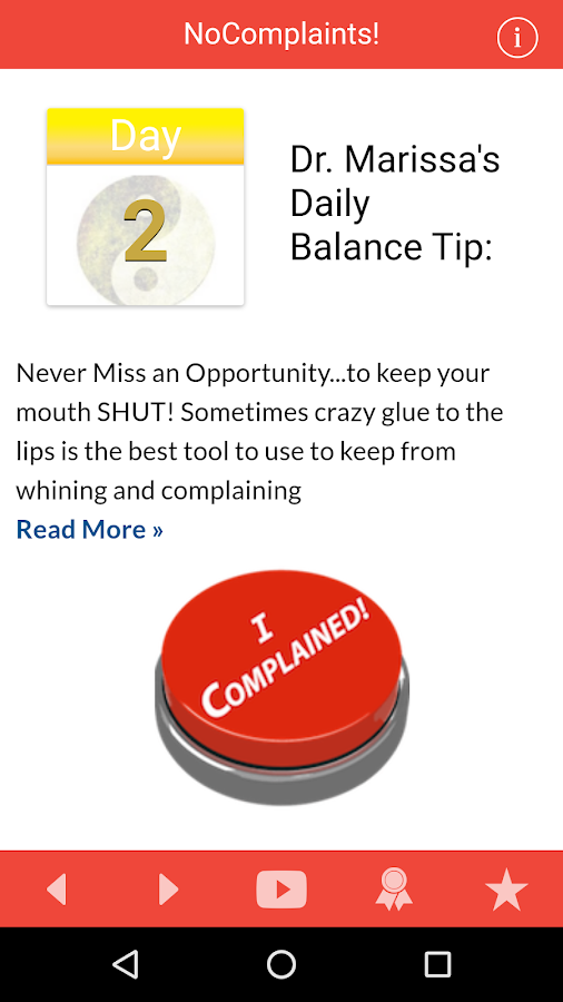 21 Day Fast from Complaining- screenshot