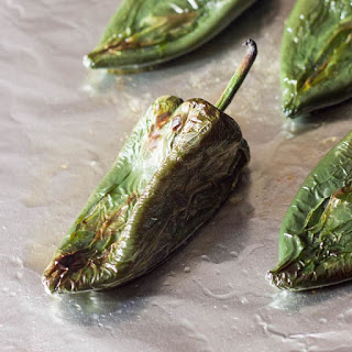 Roasted Poblano Peppers.