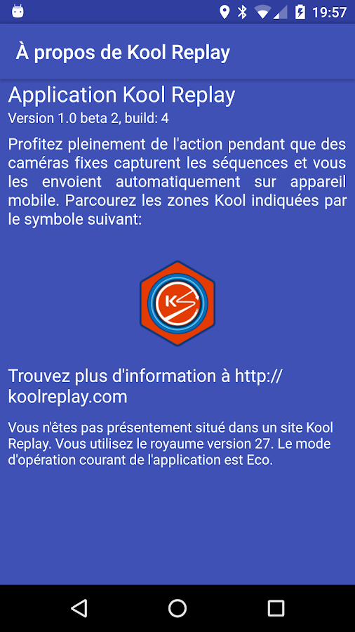 Kool Replay – Capture d'écran