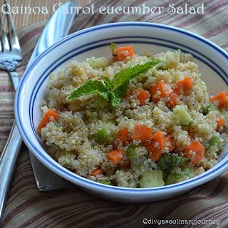 Quinoa Carrot Cucumber Salad