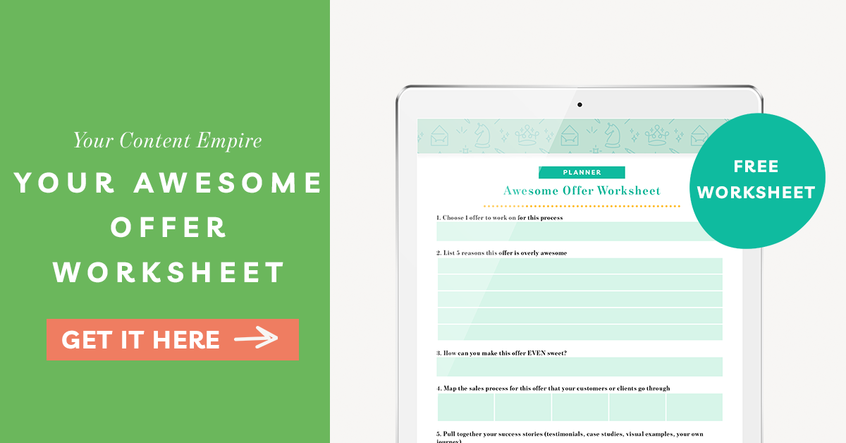 Freebie | Your Awesome Offer Worksheet