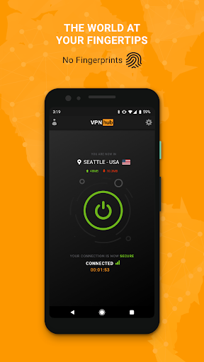 Free VPN - No Logs: VPNhub - Stream, Play, Browse 1.4.1 screenshots 1