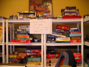 Photo: The Library: thanks to everybody who have donated and loaned games for these events!
