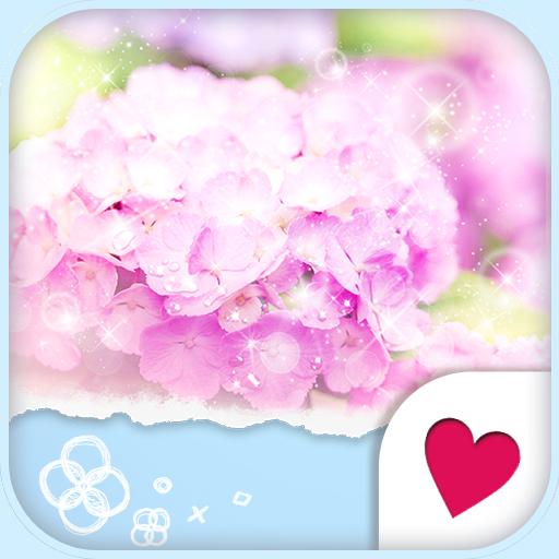 个人化のおしゃれなきせかえ壁紙★大人かわいい梅雨のあじさい LOGO-記事Game