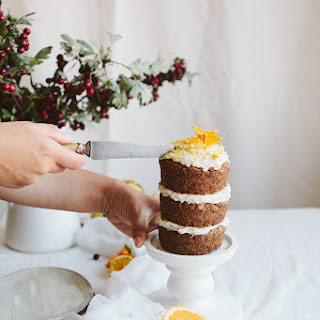 "Mini Pumpkin Layer Cake with Vegan Cream ""Cheese"" Frosting"