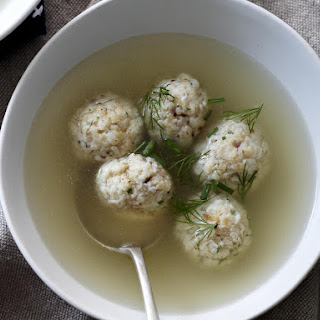 Matzo Balls in Chicken Broth