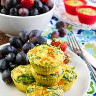 Curried Sweet Potato-Spinach Egg Muffin Cups.