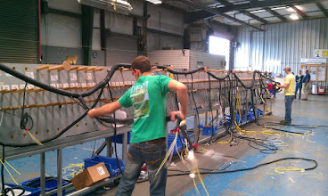 Photo: Wire Harness Being Finished