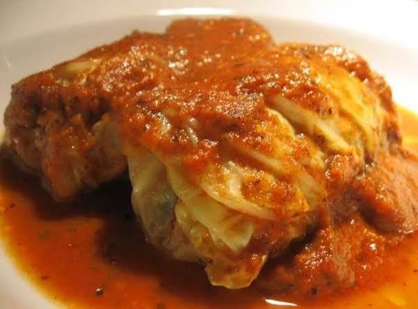 Portuguese Stuffed Cabbage Rolls Recipe