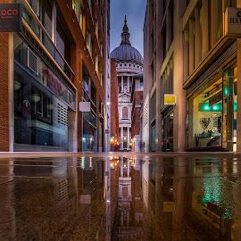 The mirror  by Selaru Ovidiu - City,  Street & Park  Night