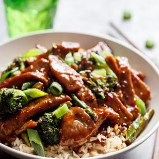 Mongolian Beef And Broccoli.
