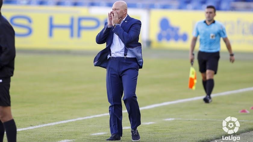 Pepe Mel en el partido ante el Girona.