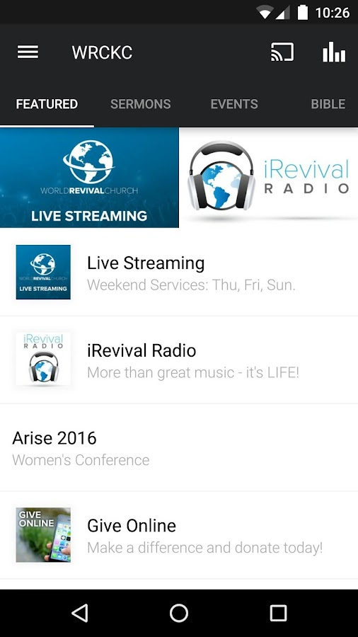World Revival Church- screenshot