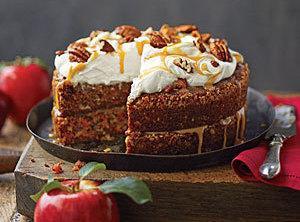 Apple-pecan Carrot  Cake Recipe