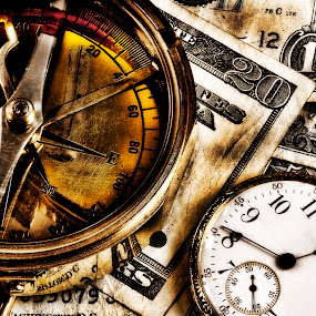Old Money Wise Investment by Alan Crosthwaite - Products & Objects Business Objects ( financial, time and money, old, investments, save, clock, direction, watch, grungy, strategy, savings, strategic, investment, spend, currency, invest, pocket-watch, market, planning, money, banking, finances, timing )