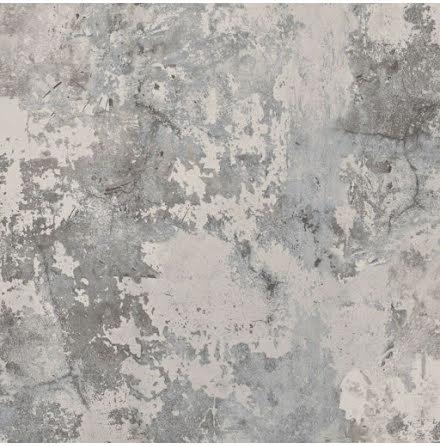 GranDeco Tempera EP3003 Tapet med rustik betongvägg och patina, Grå