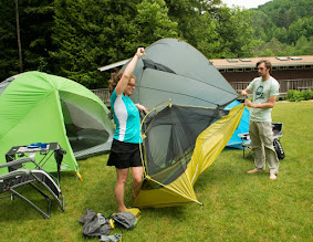 Photo: Learning to set up a tent at Emerald Lake State Park