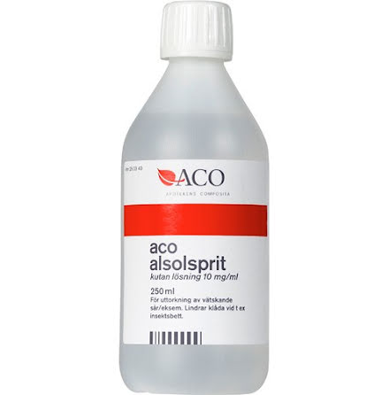 ACO ALSOLSPRIT 10 MG/ML OPARF 250ML
