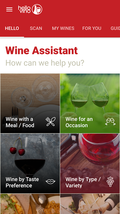 Hello Vino: Wine Assistant: captura de pantalla